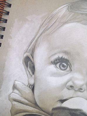 "Baby Drawing 8"" x 10"""