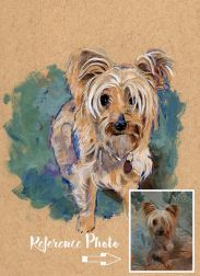 """""""Daisy"""" 5 inches x 7 inches acrylic painting on art toned paper"""