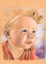 Commission Baby Painting 8x10