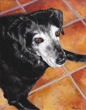 """""""Ruby"""" 8"""" x 10"""" painting on canvas (highly detailed)"""